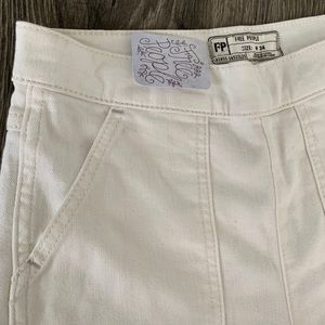 NWT Free People white beige jeans